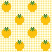 Checked pattern with cloudberry