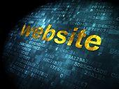 SEO web development concept: Website on digital background