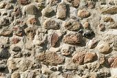 Medieval castle stone wall