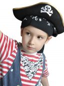 Cute Boy Wearing Pirate's Costume