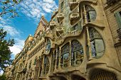 BARCELONA - MAY 8: The facade of the house Casa Battlo on May 8,