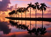 stock photo of florida-orange  - Sunrise over Cutler Bay near Miami - JPG