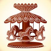 Christmas sweets toy horses chocolate carousel