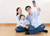 Asia family selfie