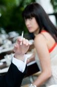 Cigarette At Restaurant