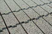 heap of clayite brick background