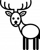 Cute animal deer - illustration