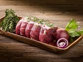 roast beef with ingredients ready to cooking