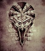 pic of gargoyles  - Sketch of tattoo art - JPG