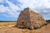 pic of megaliths  - Menorca Ciutadella Naveta des Tudons megalithic chamber tomb In Balearic islands - JPG