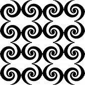 Design Monochrome Spiral Movement Pattern. Abstract Whirl Background