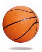 Orange basketball isolated over white background