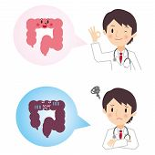 The diagnosis result of the large intestine from the doctor