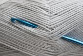 Crochet Hook And Knitting Yarn