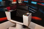 Star Trek Command Chair At Cartoomics 2014 In Milan, Italy
