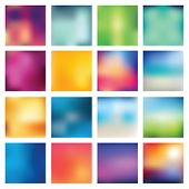 image of vivid  - Set of abstract backgrounds blurred - JPG