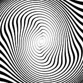 Design Monochrome Twirl Movement Ellipse Background. Abstract Strip Torsion Backdrop