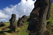 Easter Island Statues in the sun