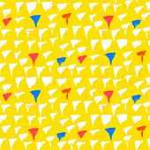 Grunge vector pattern with small drawn triangles