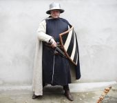 Medieval Soldier With Unsheated Sword And Shield