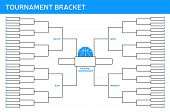 stock photo of ncaa  - Tournament Bracket concept with space for your copy - JPG