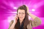Woman Hearing Bad News Over Phone