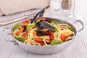 picture of crustacean  - pasta and crustacean - JPG