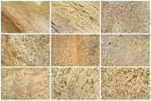 Nine Natural Limestone Backgrounds Or Textures