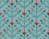Graphic Roses Pattern Background