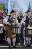 Irish Drum Band On St. Patrick's Day