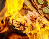 Fajita In Flame