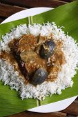 picture of brinjal  - Top view - JPG