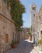 picturesque alley, Chios island Greece
