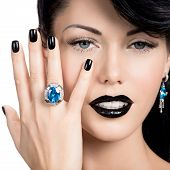 image of nail paint  - Portrait of glamour woman - JPG