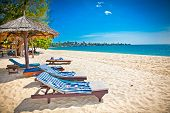 Beautiful tropical Sokha beach in Sihanoukville, Cambodia .