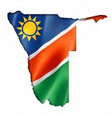 Namibian Flag Map