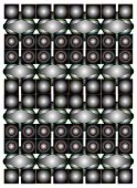 Seamless Graphic Composition With Balls On White Background