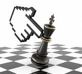 image of three kings  - Cursor Hand and Defeat Chess King - JPG