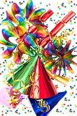 Colorful Background With Party Items