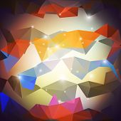 Abstract colored background, triangle design vector illustration