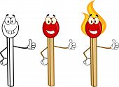 Match Stick Cartoon Characters 6. Collection Set