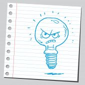 Bad idea lightbulb