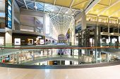 SINGAPORE - July 1: The Shopping mall at Marina Bay Sands interior on July 1,2014 in Singapore. It i