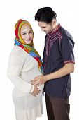 Islamic Pregnant Couple In Studio