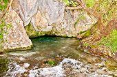 Akilles's springs in gorge Acheron  river in Greece.