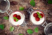 Panna Cotta From Above