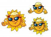 Cartoon style sun character