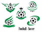 Set of football or soccer emblems
