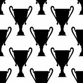 Seamless pattern of trophy cups