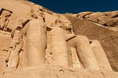 stock photo of north sudan  - The Great Temple of Abu Simbel on the border of Egypt and Sudan - JPG